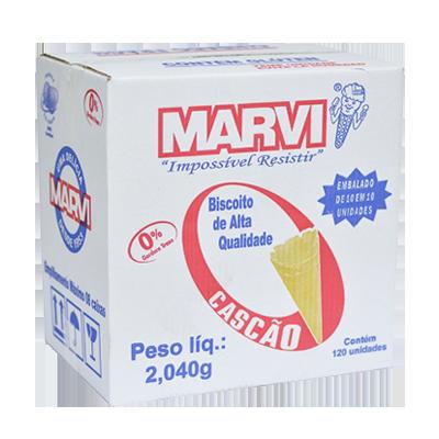 Casquinha de sorvete cascão caixa 120 unidades Marvi CX