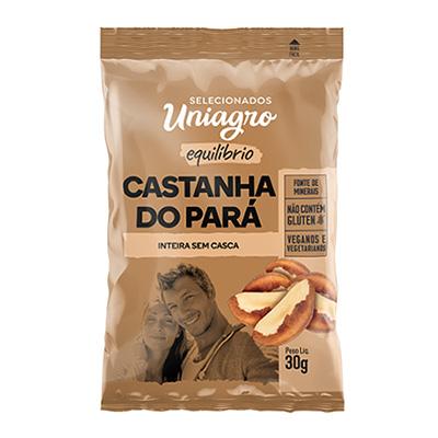Castanha do Pará  30g Uniagro pacote PCT