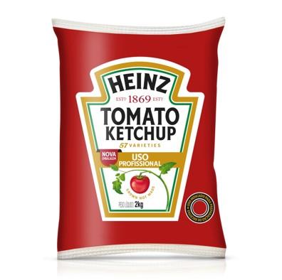 Ketchup Tradicional 2kg Heinz bag UN