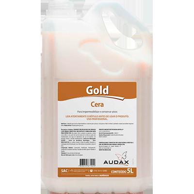 Cera líquida auto brilho incolor galão 5Litros Audax Gold GL