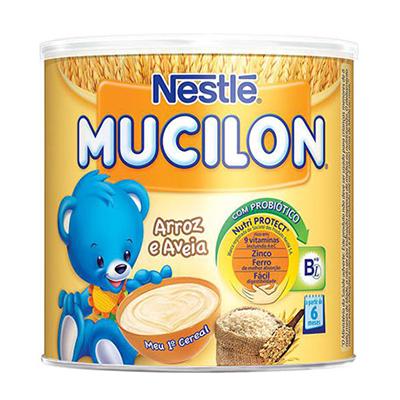 Cereal Infantil sabor arroz e aveia 400g Mucilon lata UN