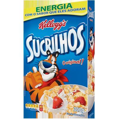 Cereal Matinal de flocos de milho com açúcar 300g Kellogg's/Sucrilhos pacote UN