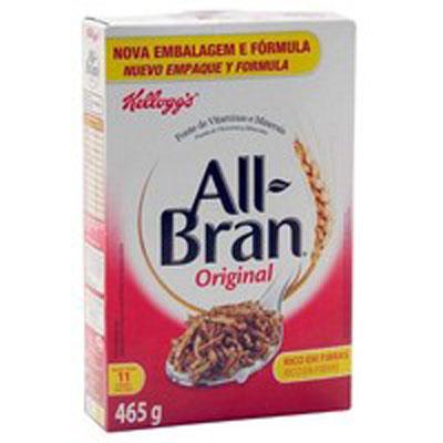 Cereal Matinal de flocos de trigo integral com uva passa pacote 465g All Bran UN