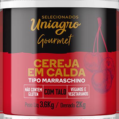 Cereja Marrasquino com cabo lata 2kg Uniagro UN