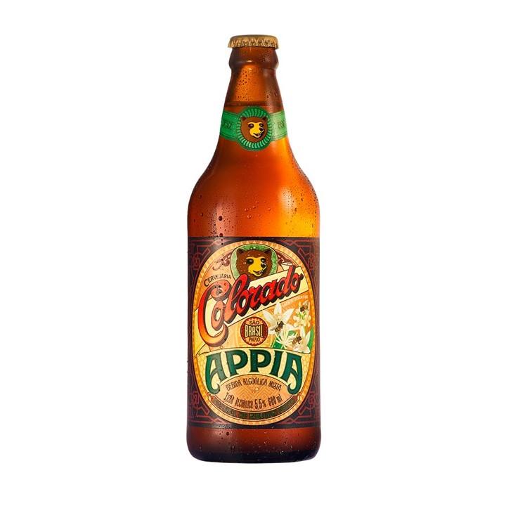 Cerveja appia (venc. 24/08) garrafa não retornável 600ml Colorado UN