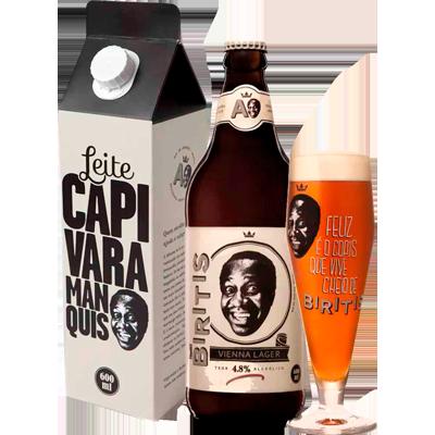 Cerveja artesanal Biritis 1 garrafa 600ml + 1 copo Quinta Do Malte UN