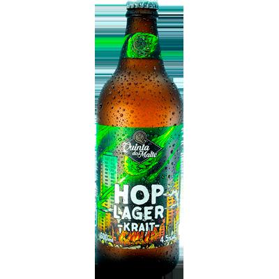 Cerveja artesanal Krait Hop Lager 600ml Quinta Do Malte garrafa não retornável UN