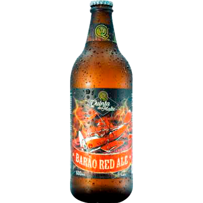 Cerveja artesanal Magnus Red Ale 600ml Quinta Do Malte garrafa não retornável UN