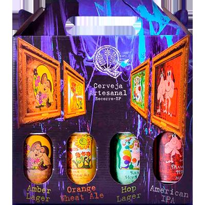 Cerveja artesanal Quinta Do Malte kit com 4 garrafas de 355ml Quinta Do Malte UN