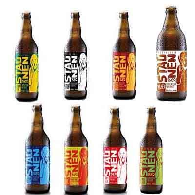 Cerveja artesanal Sortidas 500ml Staunen Bier garrafa não retornável UN