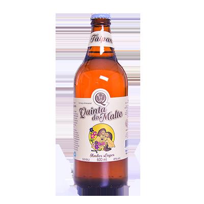 Cerveja artesanal Taipan Amber Lager garrafa não retornável 600ml Quinta Do Malte UN