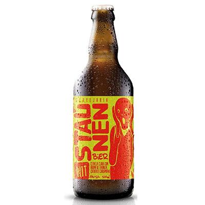 Cerveja artesanal Wit Bier 500ml Staunen Bier garrafa não retornável UN