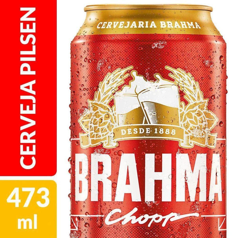 Cerveja Chopp 473ml Brahma lata UN