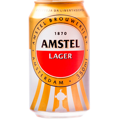 Cerveja  350ml Amstel lata UN