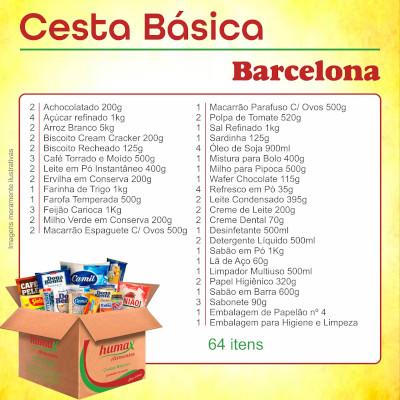 Cesta Básica Barcelona 64 itens Humax Alimentos caixa CX