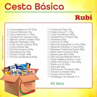 Cesta Básica Rubi 40 itens Humax Alimentos caixa CX