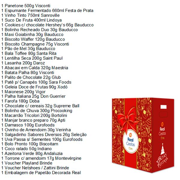 Cesta de Natal Lealdade caixa 36 itens Real Cestas UN