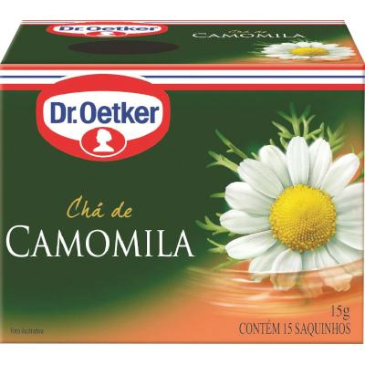 Chá de camomila caixa 15 envelopes Dr. Oetker CX