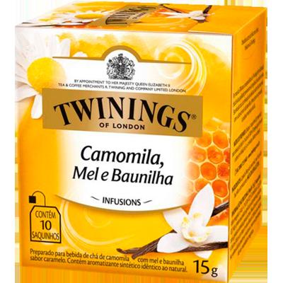 Chá de camomila, mel e baunilha caixa 10 envelopes Twinings CX