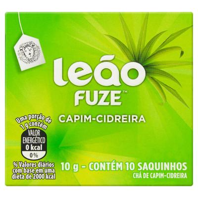 Chá de Capim Cidreira 10g (10 sachês) Leão caixa CX
