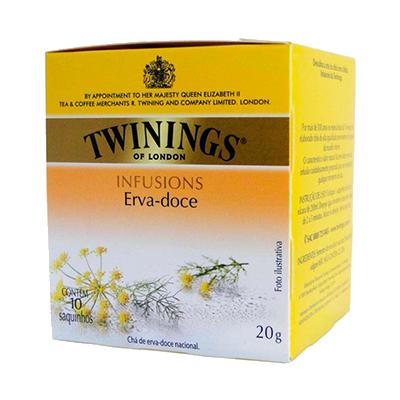 Chá de erva doce caixa 10 envelopes Twinings CX