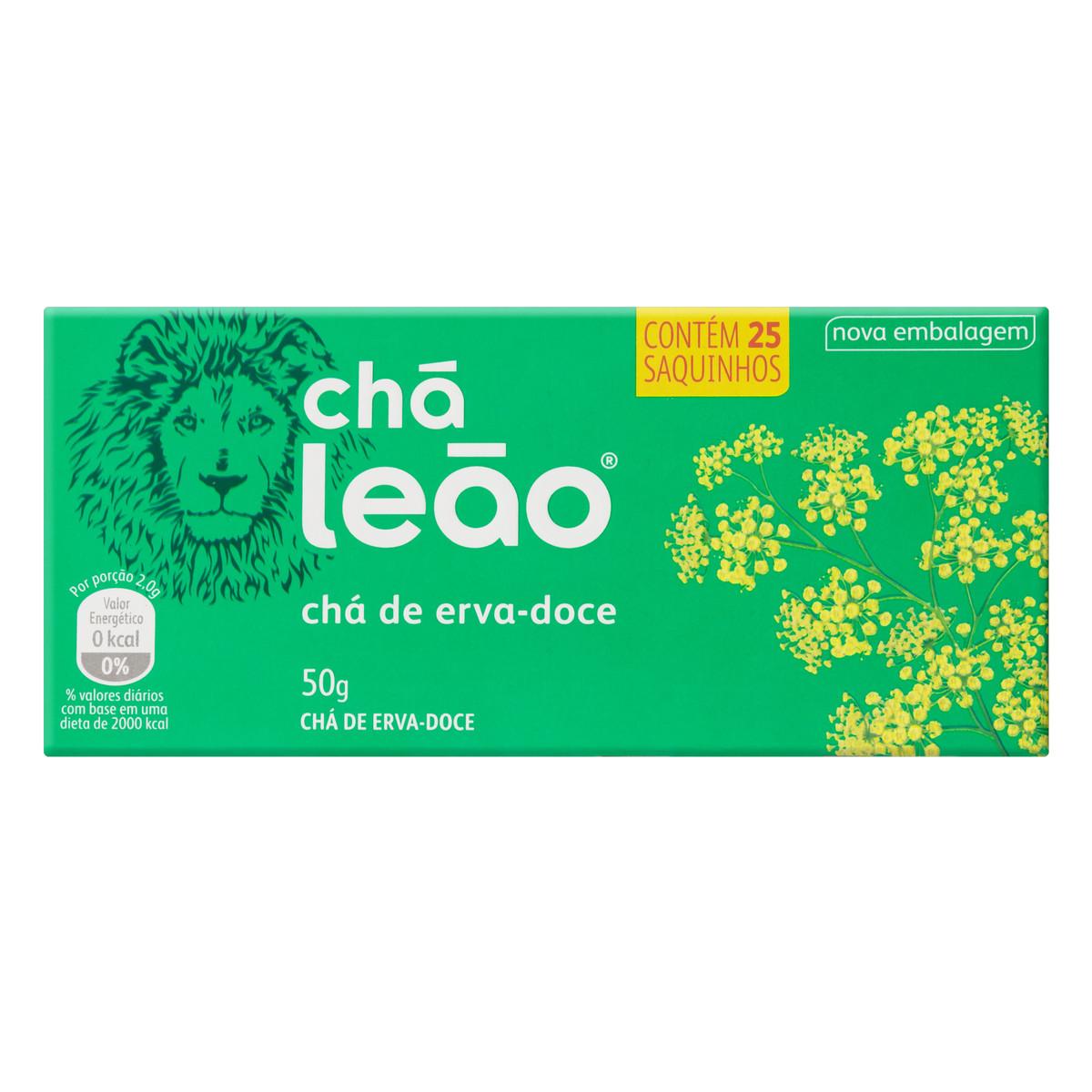 Chá de Erva Doce 50g (25 sachês) Leão caixa CX