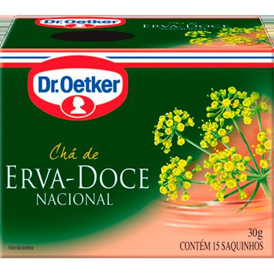 Chá erva doce caixa 15 envelopes Dr. Oetker CX