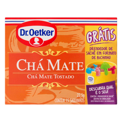 Chá mate 15 envelopes Dr. Oetker caixa CX