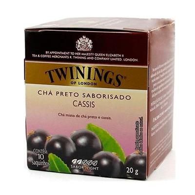 Chá preto cassis caixa 10 envelopes Twinings CX