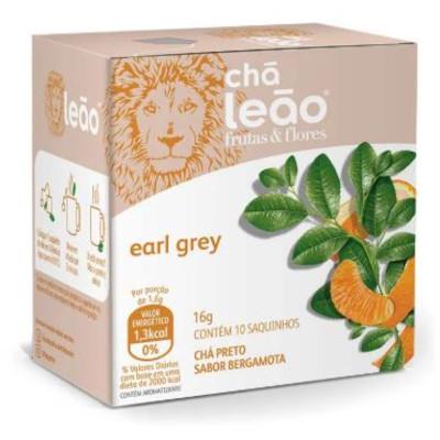 Chá preto com bergamota Earl Grey caixa 10 envelopes Leão CX