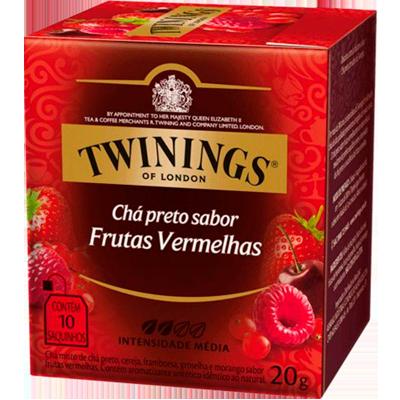 Chá preto e frutas vermelhas caixa 10 envelopes Twinings CX