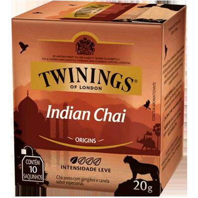 Chá preto indian chai caixa 10 envelopes Twinings CX