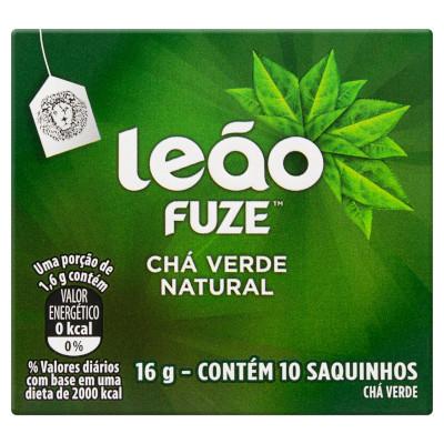 Chá verde caixa 10 envelopes Leão CX