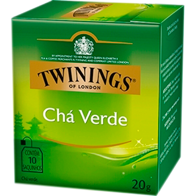 Chá verde caixa 10 envelopes Twinings CX