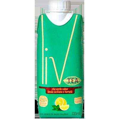 Chá verde com limão siciliano e hortelã 330ml LIV Tetra Pak UN