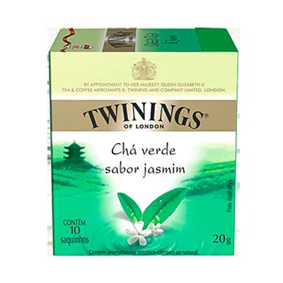 Chá verde jasmim 10 envelopes Twinings caixa CX
