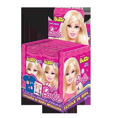 Chiclete Barbie caixa 24 unidades Buzzy CX