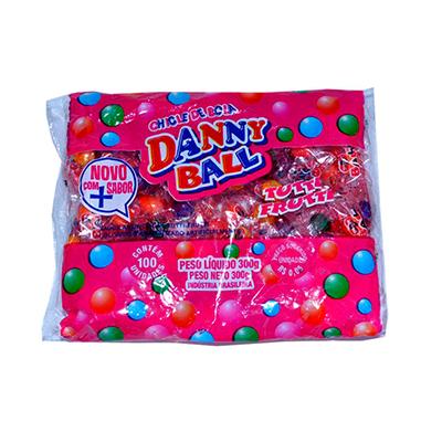 Chiclete danny ball 100 unidades Dany Ball pacote PCT