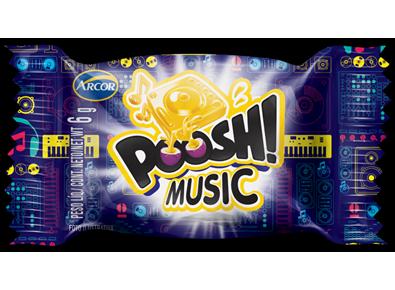 Chiclete music 40 unidades Arcor Poosh caixa CX