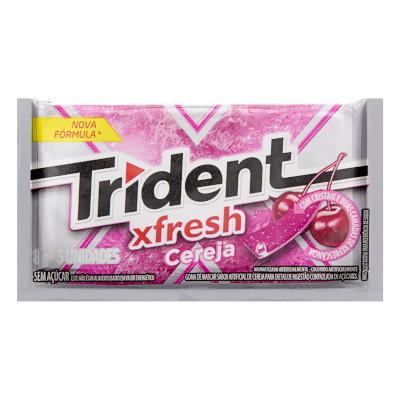 Chiclete sabor cereja ice caixa 21 unidades Trident CX