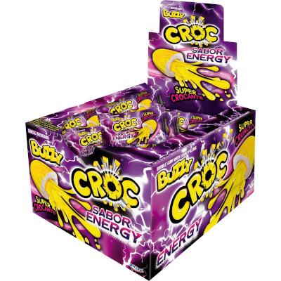 Chiclete sabor energy 40 unidades Croc caixa CX