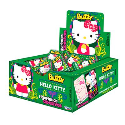 Chiclete sabor hortelã Hello Kitty caixa 100 unidades Buzzy CX
