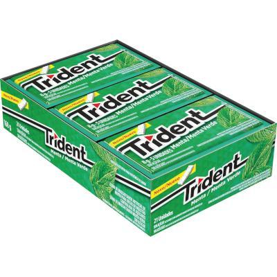 Chiclete sabor menta caixa 21 unidades Trident CX