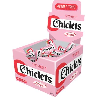 Chiclete sabor tutti frutti 100 unidades Chiclets/Adams caixa CX