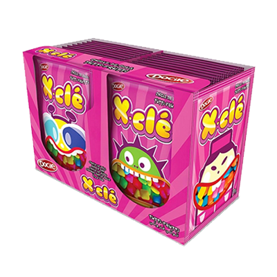 Chiclete sabor tutti frutti caixa 24 unidades Xclé CX