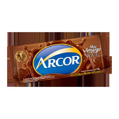 Chocolate 40% de cacau meio amargo 140g Arcor  UN