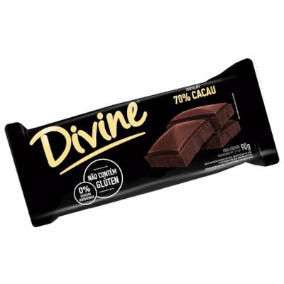 Chocolate 70% cacau 90g Divine  UN
