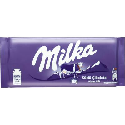 Chocolate Alpine Milk 100g Milka  UN