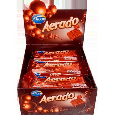 Chocolate ao leite aerado caixa 15 unidades de 30g Arcor CX