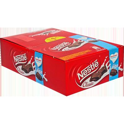 Chocolate ao leite 18 unidades Nestlé/Classic caixa UN